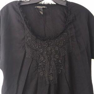 Luck Brand Black Shift Dress